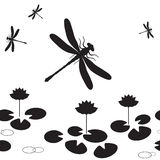 Dragonfly seamless Stock Images