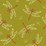 Dragonfly seamless pattern stock photography