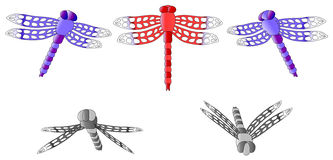 Dragonfly set Royalty Free Stock Photos