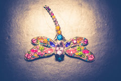 Dragonfly Shaped Brooch Royalty Free Stock Photo
