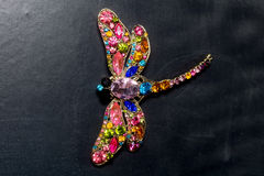 Dragonfly Shaped Brooch Stock Images