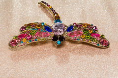 Dragonfly Shaped Brooch Stock Photography