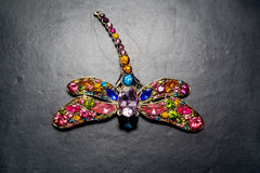 Dragonfly Shaped Brooch Stock Photo