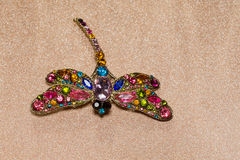 Dragonfly Shaped Brooch Stock Image
