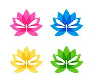Cut out dragonfly silhouette on flower icon vector illustration