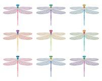 Dragonfly symbols, vector  Stock Photos