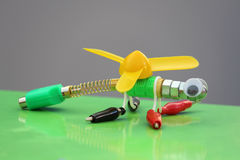 Dragonfly toy. Dragonfly made from the eletronic tools stock photography