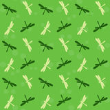 Dragonfly vector art background design for fabric and decor. Royalty Free Stock Photography