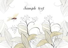 Dragonfly - vector background Stock Image