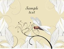 Dragonfly - vector background Stock Photography