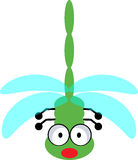 Dragonfly - vector clipart. Illustration of cute dragonfly isolated on white background Royalty Free Stock Images