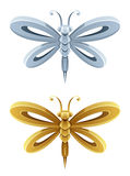 Dragonfly. On a white background vector illustration