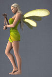 Dragonfly winged fairy Stock Photography
