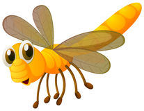 Dragonfly in yellow color. Illustration Stock Photography