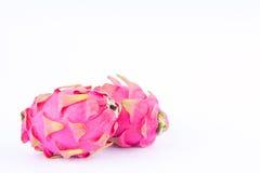 Dragonfruit или pitaya плодоовощ дракона на изолированной еде плодоовощ дракона белой предпосылки здоровой Стоковое Фото