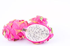 Dragonfruit или pitaya плодоовощ дракона на изолированных натуральных продуктах dragonfruit белой предпосылки здоровых Стоковое Изображение RF