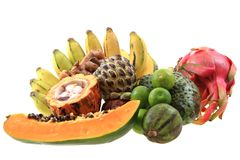 dragonfruit bannana annona папапайи Стоковая Фотография