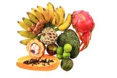 dragonfruit bannana annona папапайи Стоковое фото RF