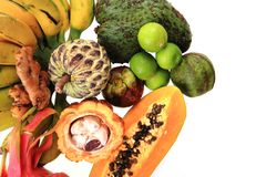 dragonfruit bannana annona папапайи Стоковая Фотография RF