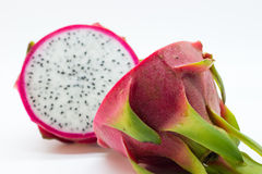 Dragonfruit cut in half backview Royalty Free Stock Photo