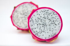 Dragonfruit cut in half front view Stock Photography