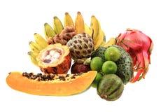 dragonfruit de bannana d'annona de papaye Image libre de droits