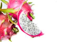 Dragonfruit. Fresh dragonfruit in Thailand isolated Royalty Free Stock Image