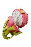 Dragonfruit a isolé sur le blanc Image stock