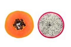 Dragonfruit a isolé sur le blanc Images stock