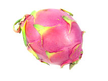 Dragonfruit  op witte achtergrond Royalty-vrije Stock Foto's
