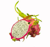 Dragonfruit. Pitaya,dragon fruit isolated on white background Royalty Free Stock Images