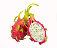 Dragonfruit. Pitaya,dragon fruit isolated on white background Stock Photography