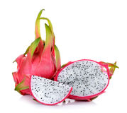 Dragonfruit sui precedenti bianchi Immagine Stock Libera da Diritti