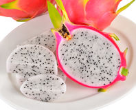 Dragonfruit  sur le fond blanc Image libre de droits