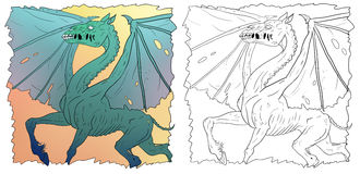 Dragonhorse illustrazione di stock