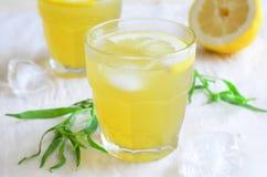 Dragonlemonad, naturlig uppfriskande drink arkivfoton