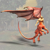 Dragonman #01 Royalty Free Stock Images