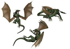 Dragons Images libres de droits
