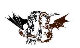 Dragons in battle Royalty Free Stock Image
