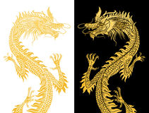 Dragons on black and white. Stock Photography