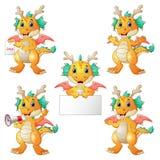 Dragons cartoon set. Illustration of Dragons cartoon set Stock Photos
