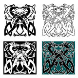 Dragons celtic knot vintage pattern Royalty Free Stock Image
