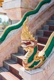 Dragons at Chalong Temple in Phuket Royalty Free Stock Photo