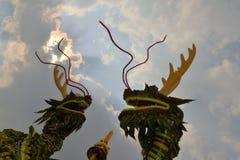 Dragons at Chinese Temple pagoda Stock Photo