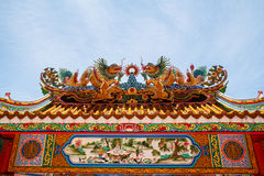 Dragons in chinese temple Stock Photography