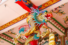 Dragons in chinese temple Stock Photo