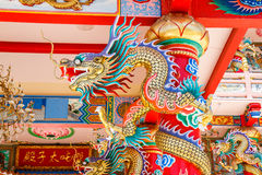 Dragons in chinese temple Royalty Free Stock Images