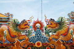 Dragons in chinese temple Royalty Free Stock Photos