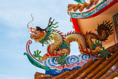 Dragons in chinese temple Stock Image