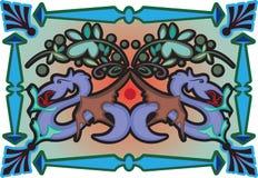 Dragons décoratifs illustration de vecteur